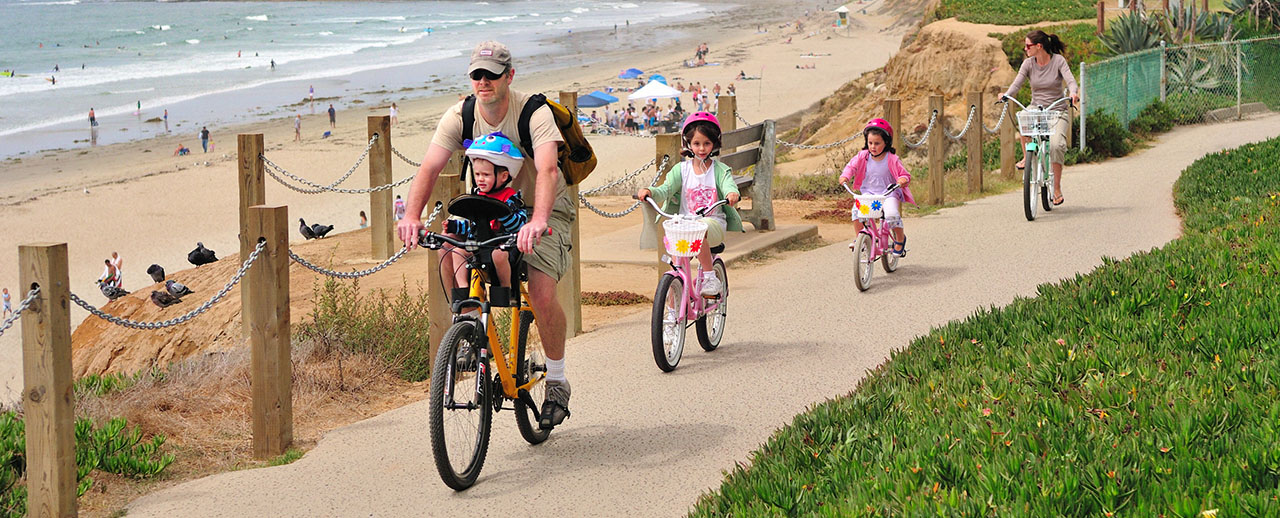 Pacific Beach Boardwalk - Scenic Cycle Tours - San Diego Bike Tours