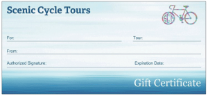 Gift Certificate - Scenic Cycle Tours - San Diego Bike Tours