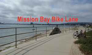 mission bay bike lane - Scenic Cycle Tours - San Diego Bike Tours