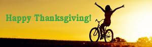 happy thanksgiving - Scenic Cycle Tours - San Diego Bike Tours