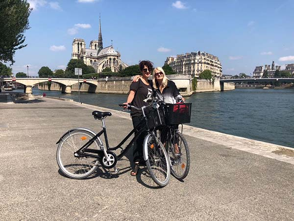 paris with mira - Scenic Cycle Tours - San Diego Bike Tours