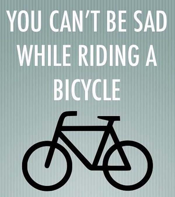 no sadness when riding a bike - Scenic Cycle Tours - San Diego Bike Tours