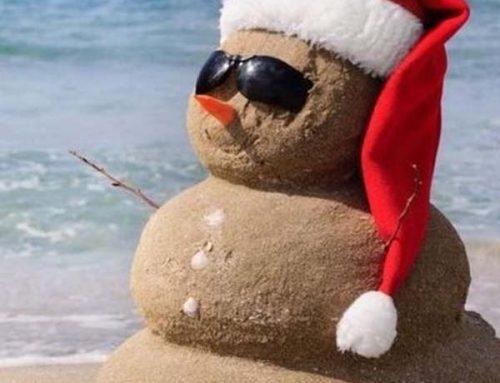 Surfing Santa!