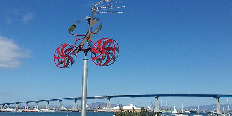 coronado bike art by amos robinson - San Diego Scenic Cycle Tours