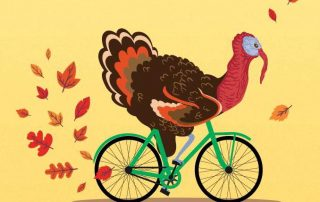 turkey riding a bike art - San Diego Scenic Cycle Tours