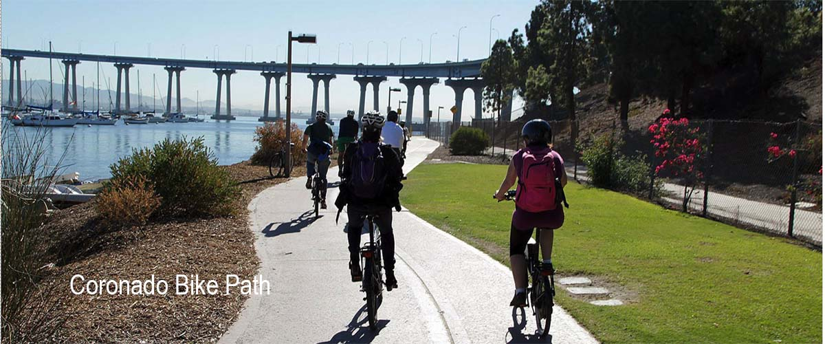 coronado bike path - San Diego Scenic Cycle Tours
