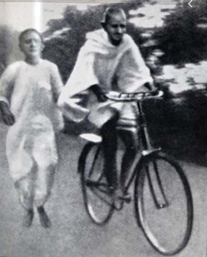 gandhi riding a bike - San Diego Scenic Cycle Tours