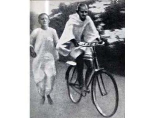 Gandhi Biked to Work!