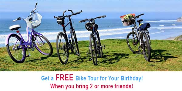 free birthday bike tour - San Diego Scenic Cycle Tours