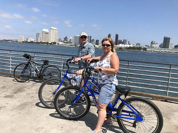 san diego skyline - San Diego Scenic Cycle Tours