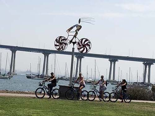 biking on the coronado bridge - San Diego Scenic Cycle Tours