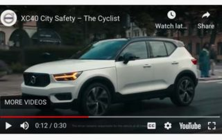 volvo with cyclist protection- San Diego Scenic Cycle Tours