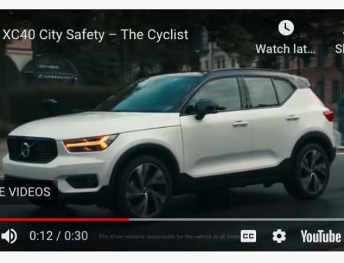 Volvos with Cyclist Protection Ad