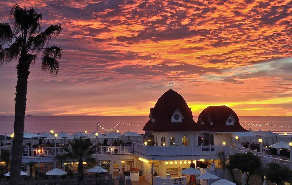 hotel del coronado sunset - San Diego Scenic Cycle Tours