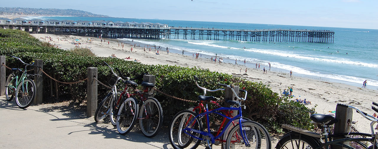 chrystal pier - San Diego Scenic Cycle Tours