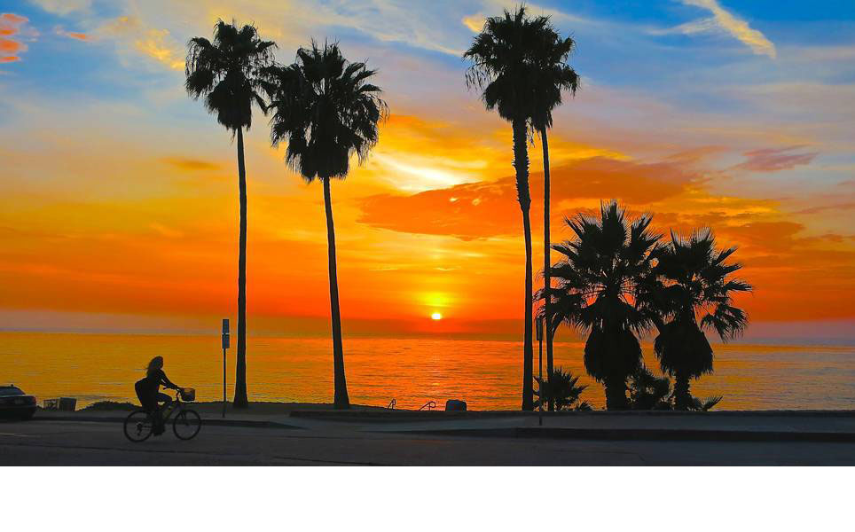sunset - San Diego Scenic Cycle Tours